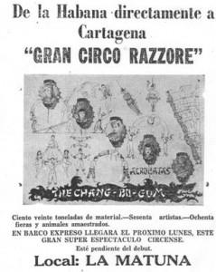 El naufragio del circo Razzore.